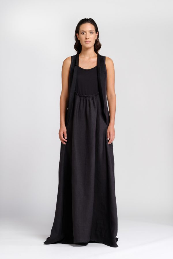 long dress natural hemp