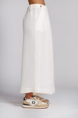palazzo trousers in white hemp side