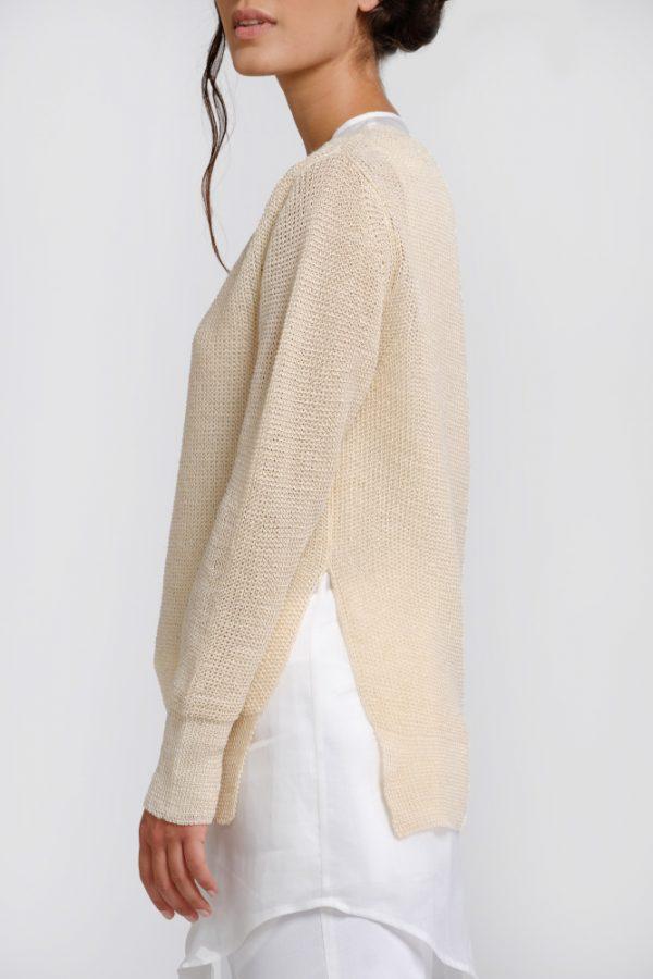 Natural hemp sweater shirt sleeve