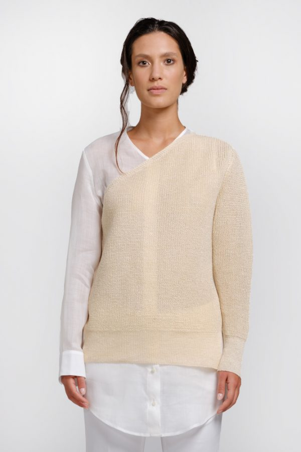 Natural hemp sweater shirt