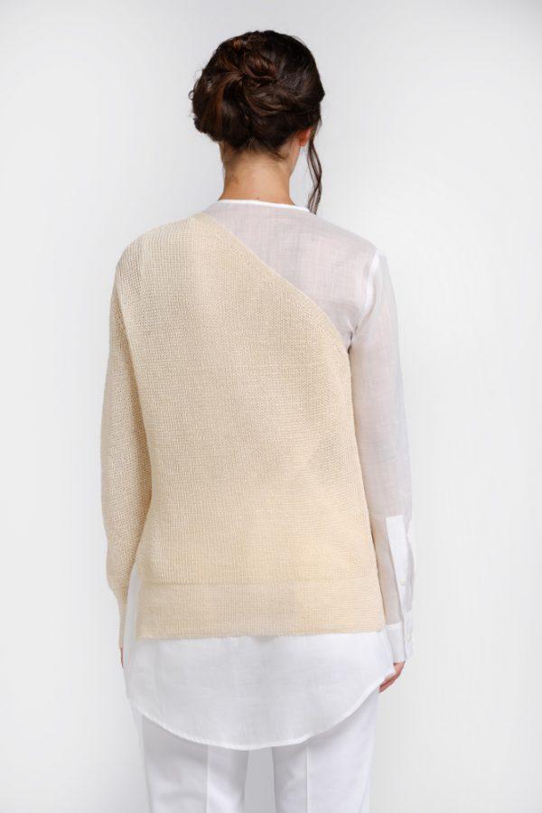 Natural hemp sweater shirt back