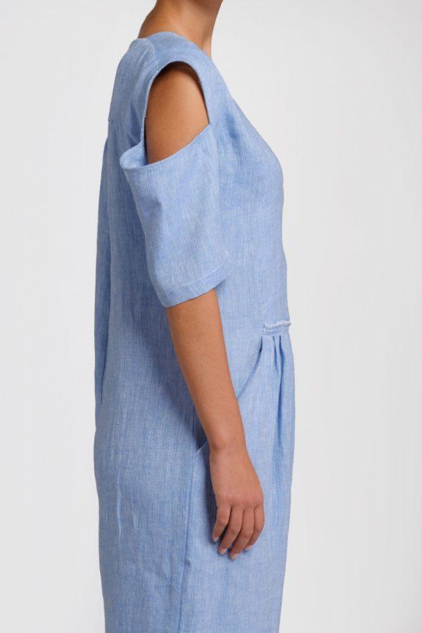 light blue hemp jumpsuit