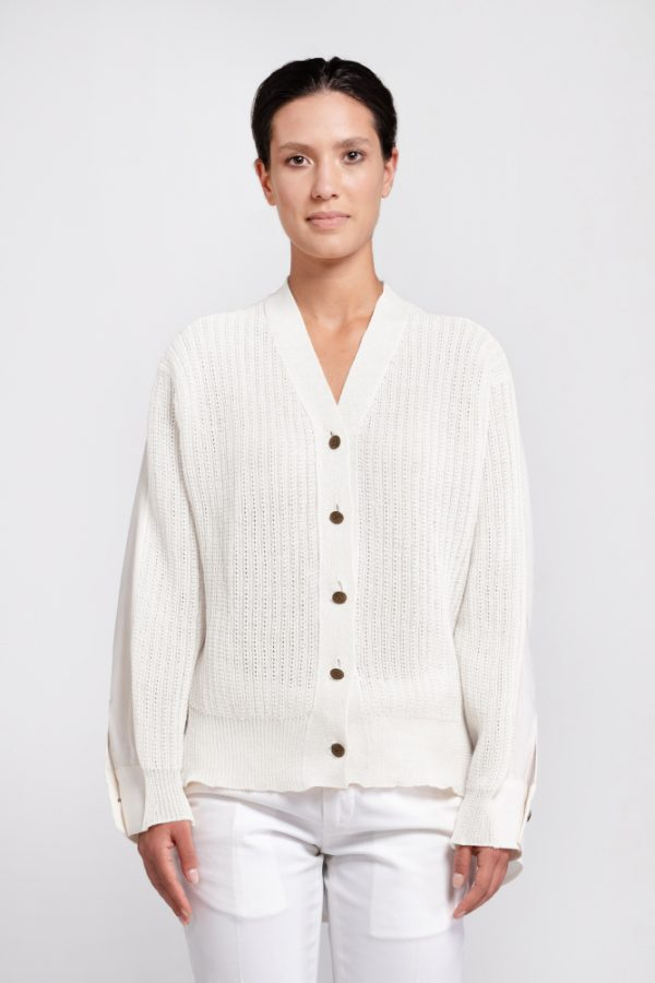 natural hemp cardigan shirt