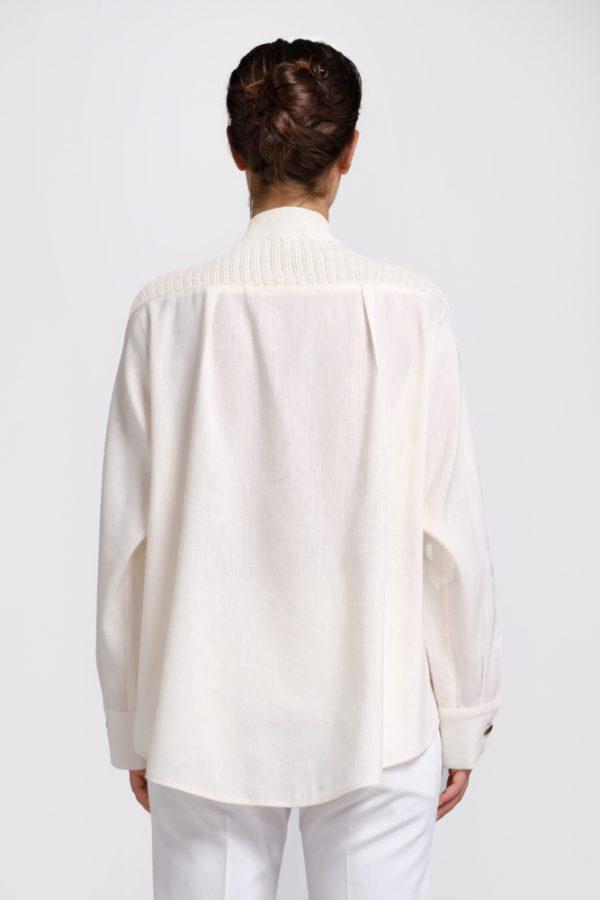 cardigan camicia in canapa naturale